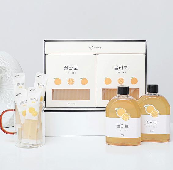 천연 100% 과일 블렌딩 꿀 허니스틱 꿀라보 5종 택 1